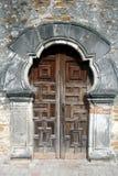 Doors Of Mission Espada. Front wooden doors at Old Mission Espada, the smallest mission Stock Image