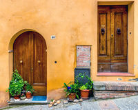 Doors of Montepulciano, Italy Stock Photos