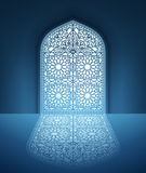 Doors of Mosque with Arabic Pattern Stock Photo