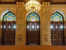 Doors. Mosque Sultan Qaboos, Muscat, Oman Royalty Free Stock Image