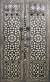 Doors with mother-of-pearl inlay in Topkapi palace Harem, Istanbul Royalty Free Stock Image