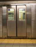 Doors of New york subway car Stock Photography