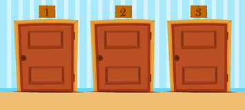 Doors with numbers in the house Stock Photography