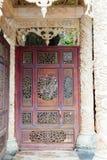 Doors old asian design Royalty Free Stock Photo