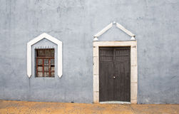 Doors in a old city of Valladolid, Mexico Stock Photos