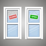 Doors Open Closed Royalty Free Stock Images