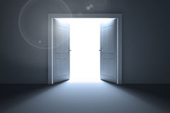 Doors opening revealing light Stock Photos