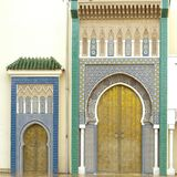 Doors of the Royal Palace in Fes, Morocco Stock Photography