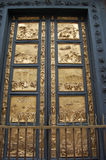The Doors of Paradise. Lorenzo Ghiberti . Ten panels are devoted to episodes of the Old testament Royalty Free Stock Photography