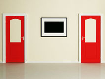 The doors and a picture Stock Photography
