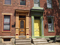 Doors in Pittsburgh. Traditional style doors in Pittsburgh, PA Stock Photos
