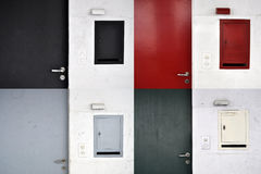 Doors and post boxes Royalty Free Stock Photos