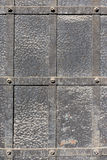 Doors reinforced with iron. Close up Stock Photography