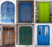 Doors of Santorini Royalty Free Stock Images