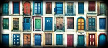 Doors of santorini Stock Photography