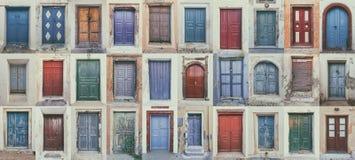 Doors of santorini Royalty Free Stock Photography