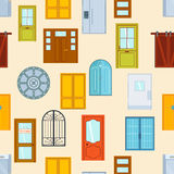 Doors seamless pattern vector illustration. Stock Images