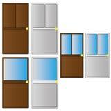 Doors. Set of different types of door Royalty Free Stock Photography