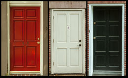 Doors set of three Stock Image