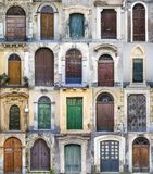Doors from Sicily. Collage of doors from Sicily Stock Photo