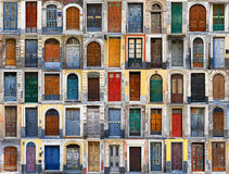 Doors in Sicily, Italy Royalty Free Stock Photography