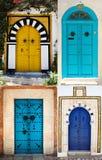 Doors of Sidi Bou Said. La Gulett, Tunisia Royalty Free Stock Photos