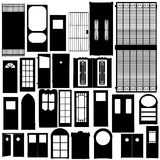 Doors silhouette set Royalty Free Stock Photo