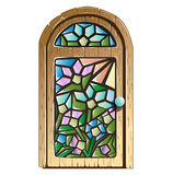 Doors with stained glass Stock Images