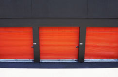 Doors at storage facility Stock Images