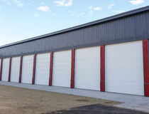 Doors at storage facility Stock Photography
