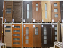 Doors in the store Stock Image