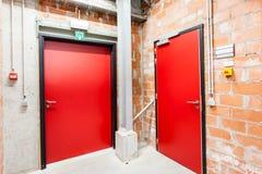 Doors of technical rooms Stock Photo