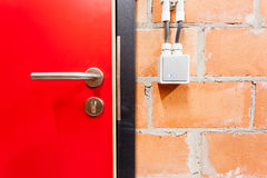 Doors of technical rooms Royalty Free Stock Image