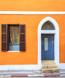 Doors of Tel Aviv. Fragment of a building in Tel Aviv, Israel with a door and a window Royalty Free Stock Photography