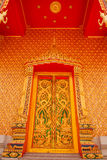 The doors of the temple of Wat Thailand Royalty Free Stock Photo