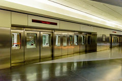 Doors for the terminal tram at DIA Royalty Free Stock Photo