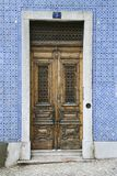 Doors and tiled building, Portugal. Royalty Free Stock Photos