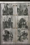 Doors to historical motives Royalty Free Stock Photo