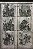 Doors to historical motives Royalty Free Stock Photo