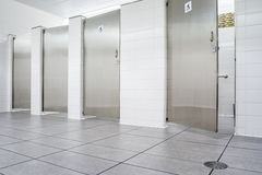 Doors from toilets Stock Photography