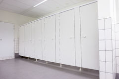 Doors from toilets Royalty Free Stock Photo