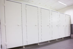 Doors from toilets Royalty Free Stock Photography