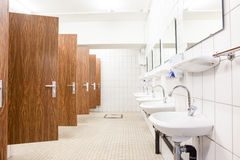Doors from toilets and sinks Royalty Free Stock Photography