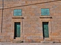 Doors at the Tower of Hercules royalty free stock images
