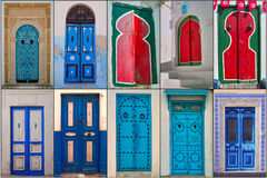 Doors of Tunisia Stock Photography