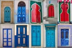 Doors of Tunisia Stock Photography
