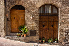 Doors in Tuscany Stock Images