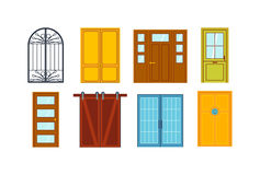 Doors  vector illustration. Royalty Free Stock Photography