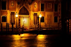 Doors on a Venetian Canal Royalty Free Stock Photography