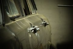 Doors of a vintage car royalty free stock images